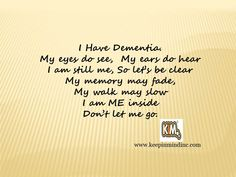 Keep In Mind, Inc. specializes in holistic approaches to dementia care. And are dedicated to training care partners on how to deliver person-centered care. www.keepinmindinc.com