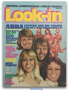 On the week ending June 1979 Abba appeared on the cover of Look-in magazine in the UK. 1970s Childhood, My Childhood Memories, Childhood Toys, 80s Kids Shows, Milly And Molly, Brian Moore, Elvis Costello, We Are Young, Classic Comics