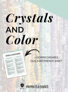 How to Clean Crystals — Mumbles & Things