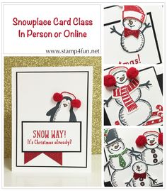 Stamp 4 fun with Selene Kempton: Stampin' Up! Card Class Snow Place, Online, To Go, or In person