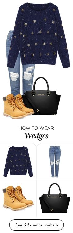 """Baby it's cold outside♡"" by neverseethelight on Polyvore featuring Topshop, MICHAEL Michael Kors and Timberland"