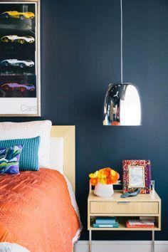 The bedside Pendant Lamp - Get the look: http://www.mattblatt.com.au/Pendants/Replica-Mario-Mengotti-and-Sergio-Prandina-Notte-Pendant-Lamp.aspx?p4658c13