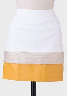 City Center Metallic Accent Skirt
