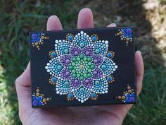 Punto Mandala caja tesoro joyas sirena flor por LaBellaArtigiana