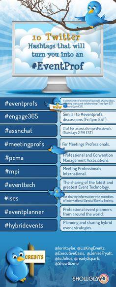 twitter hashtags eventprof education training epedagogy
