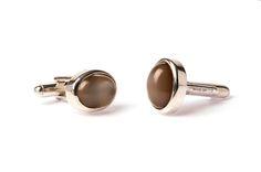 Grey Moonstone cufflinks - Rachel Jeffrey