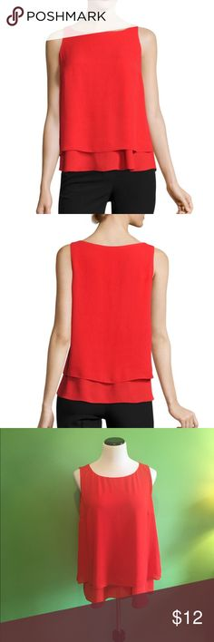 NWT Worthington Sleeveless Georgette Blouse ✨NEW WITH TAGS✨Worthington Georgette Blouse ▪️Sleeveless ▪️Scoop Neck ▪️Fiery Red ▪️Size XL Worthington Tops Blouses