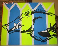 16X20 Hog Canvas  amandabirdsong@yahoo.com