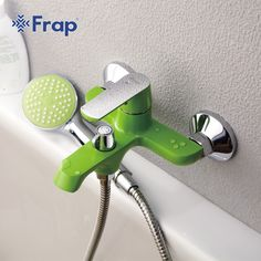 FRAP New arrivals White Bathroom Shower Brass Chrome Wall Mounted Shower Faucet Shower Head sets green Orange 3 color - Luxury Designer Fixures FRAP Shower Faucet Sets, Shower Set, Rain Shower, China Wall, White Bathroom, Bathroom Fixtures, Messing, Green And Orange, Shower Heads