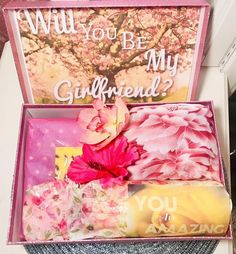 Will You Be My Girlfriend? Custom You Are Beautiful Box. Will You Be My Girlfriend, Girlfriend Gift, Health Warrior, Military Discounts, Fake Flowers, Inspirational Message, Custom Boxes, You Are Beautiful, Love Gifts
