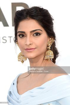 Sonam Kapoor attends the amfAR's 23rd Cinema Against AIDS Gala Dinner at the annual 69th Cannes Film Festival at Hotel du Cap-Eden-Roc on May 19, 2016 in Cap d'Antibes, France.  (Photo by Stephane Cardinale - Corbis/Corbis via Getty Images)