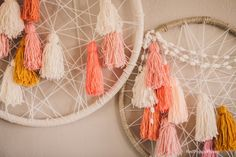 Beautiful Yarn Dreamcatchers