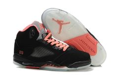 big sale a9d77 f5725 Wholesale Cheap Women Air Jordan 5 GS Black Pink Silver Newest Now. Women  Shoes Sneakers