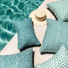 Walter G Wholesale Portal - AUS - Uzes Emerald linen cushion 30x45cm Beautiful Textures, Pillow Forms, Coastal Living, Home Textile, Vibrant, Cushions, Textiles, Throw Pillows, Pattern