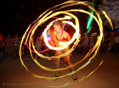 Amazing fire hooping picture