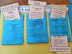 Grammar Book, Greek Language, School Staff, Interactive Notebooks, Special Education, Teacher, Learning, Crafts, Professor