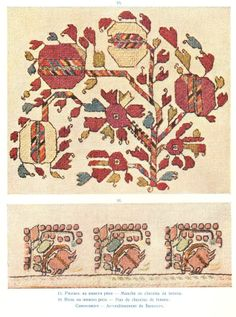 Embroidery on a woman's chemise, Samokov