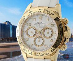 """Beach To Myself!"" #Rolex 40mm Daytona 18k Yellow Gold RubberB, circa 1993 Ref#: 16518  ($15,275.00 USD) http://www.elementintime.com/Rolex-Daytona-16518-9583-18k-Yellow-Gold"