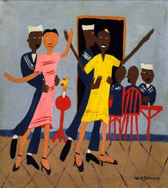 William Johnson Artist | Sailors' Dance Hall by William H. Johnson / American Art