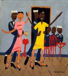 William Johnson Artist | Sailors' Dance Hall by William H. Johnson / American Art