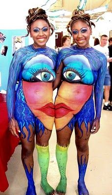 Body art by Faces by Ren and Patti Peters, models Khia and Andrea