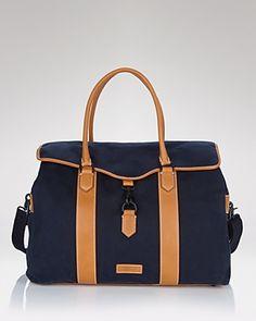 Bloomingdales Ben Minkhoff Waxwear & Leather Weekender Bag