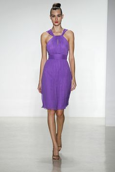 Are you dressing your 'maids in purple? Then, show them this Amsale dress! (Photo: Dan Lecca)