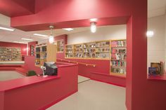 Southeast Middle School Library | Alexander Design Studio - modern, clean, invigorating