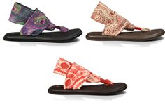 Most comfortable sandals ever....Sanuk Yoga Sling Prints sandals... made from extra comfy yoga mats!