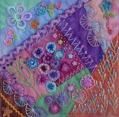I ❤ crazy quilting, beading & embroidery . . . Sondra Sweeney, Embellished Block for Cathy Wolsfelt Glover- Crazy Quilt Divas 2015 Round Robin