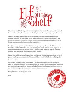 elf on the shelf permission to touch letter | Elf On The Shelf Letter Ideas - letter of recommendation