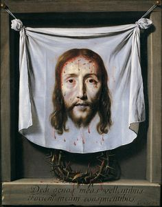 The Shroud of St Veronica (oil on canvas), by Philippe de Champaigne Veil Of Veronica, St Veronica, Philippe De Champaigne, Baroque Painting, French Paintings, Jesus Face, Mary And Jesus, Sacred Art, Old Master