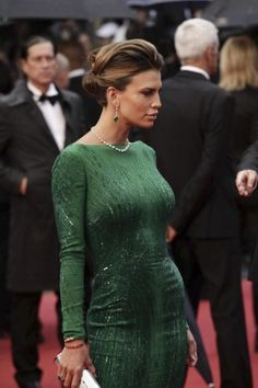 Emerald Green dress @ Cannes Film Festival 2013 - Opening Ceremony - The Great Gatsby Red Carpet #fashion