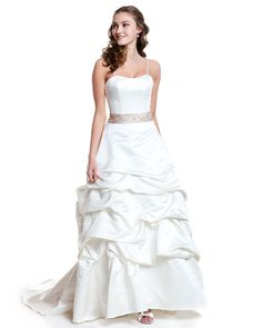 Style 8211 » Wedding Gowns » DaVinci Bridal » Available Colours : Ivory/Blush/Silver, Ivory/Silver. Ivory/Ivory, White/Blush/Silver, White/Silver, White/White ~ Shown with detachable Spaghetti Straps