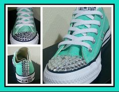 Cute bling converse for women by BeausBouquets on Etsy