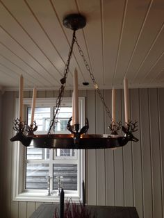 "Chandelier ""Stetind"" for mountain lodge"