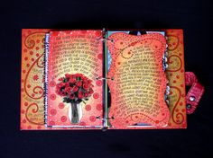 altered books and journals #journal - nice backgrounds with space for writing