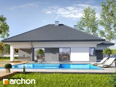 Dom w renklodach 5 House Layout Plans, House Layouts, My House, Gazebo, Outdoor Structures, Outdoor Decor, Home Decor, Houses, Boden