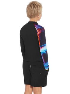 Speedo Dissect Long Sleeve Boys Sun Top 2