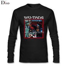 Men's Liquid Swords Wu Tang Clan T-shirt Custom Long Sleeve  Tshirt Men Male #Affiliate