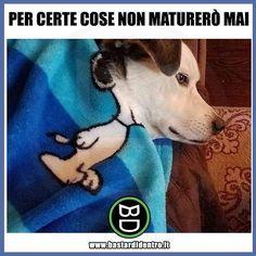 Ci sono cose per le quali non maturerò mai! #bastardidentro #perfettamentebastardidentro #snoopy #cane www.bastardidentro.it