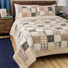 Greenland Home Fashions Oxford 3-piece Quilt Set (Twin)