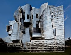 Close up of strange metal exterior of Gehry building  | 10 of the most Unconventional University buildings