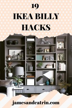 The Ikea Billy bookcase is so simple and versatile, there are so many Ikea Billy hacks that take advantage of this. Check out the best Ikea Billy hacks that turn a simple bookcase into something stunning. #ikeabillyhacks #ikeahack #billybookcase