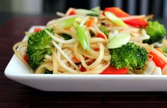 Asian Noodle & Veggie Salad w/Soy Vinaigrette