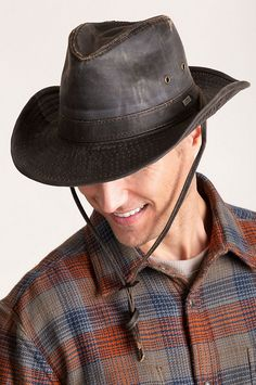 05d1c6b6c6e Outback Shapeable Weathered Cotton-Blend Safari Hat