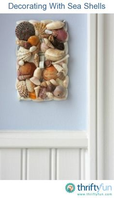 I don't usually include DIY pins, since I'm no good at arts & crafts, but since I live near the beach, this one looks do-able - even for me! ... If you don't live near the beach, here's where you can get an assortment of shells for only $4.99: http://coastaldecor.tropicalhouseplants.net/sea-shell-mix/
