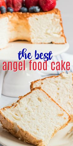 Light as air with a sweet crumb, Angel Food Cake is a classic dessert just begging to be topped with strawberries and whipped cream this summer. Learn how to make, store and freeze the perfect Angel Food cake with this tried and true recipe. Best Dessert Recipes, Cupcake Recipes, Fun Desserts, Baking Recipes, Cupcake Cakes, Kitchen Recipes, Angel Cake, Angel Food Cake, Homemade Cheesecake