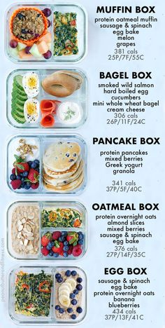 bento box lunch For Meal Prep Monday this week, I decided to change things up a bit and show you some kick-ass snack prep ideas! Snacks are such a crucial part of my. Healthy Breakfast Recipes, Lunch Recipes, Healthy Eating, Breakfast Ideas, Healthy Food Prep, Breakfast To Go, Meal Prep Breakfast, Meal Prep Recipes, Healthy Breakfast For Weight Loss