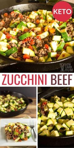 This Mexican Zucchini Beef Skillet is sure to become one of your favorite keto one pot meals! This easy low carb ground beef recipe is a simple ketogenic dinner idea. keto dinner Mexican Zucchini and Beef Skillet Ketogenic Recipes, Diet Recipes, Healthy Recipes, No Carb Dinner Recipes, Breakfast Recipes, Ketogenic Diet, Low Carb Dinner Ideas, Zucchini Dinner Recipes, Recipies